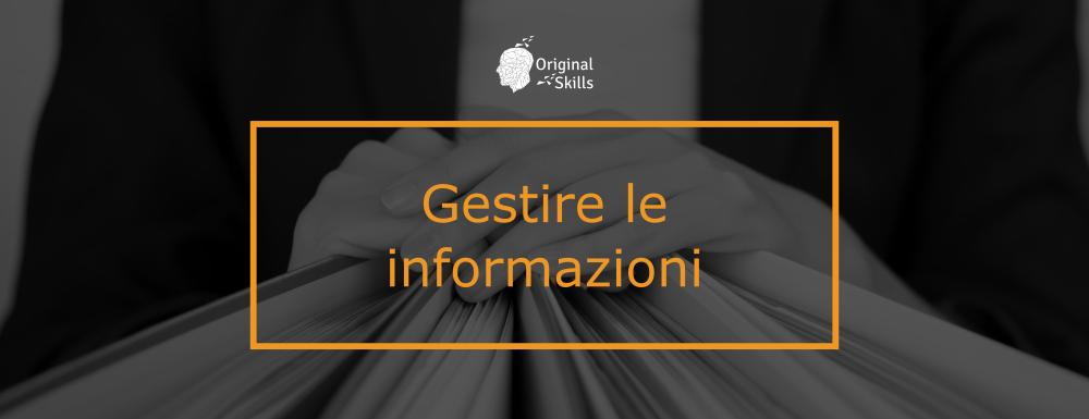 Gestire le informazioni